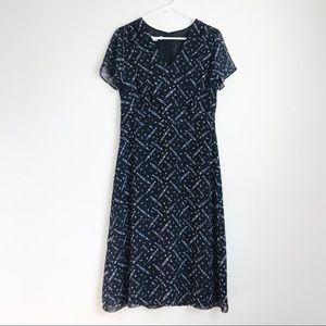 Vintage Pendleton Silk Floral Maxi Dress